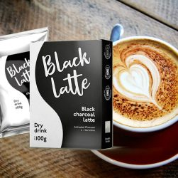 black latte integratore