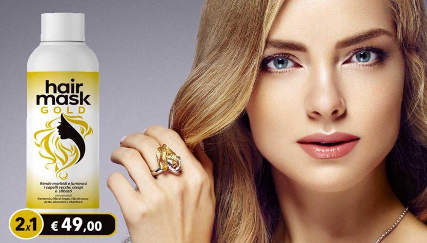 hair mask gold crema idratante per capelli