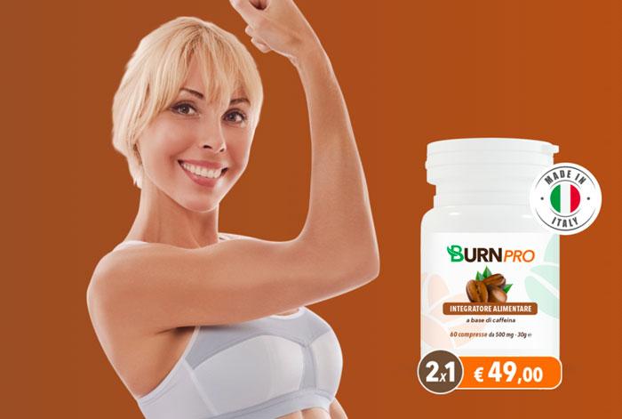 burn pro integratore a base di caffeina
