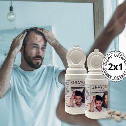grayout con melatine integratore capelli bianchi