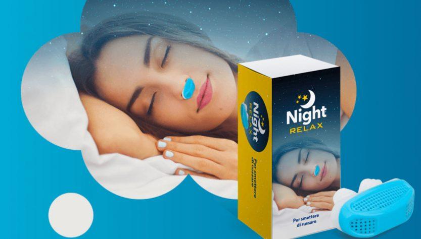 night relax per smettere di russare